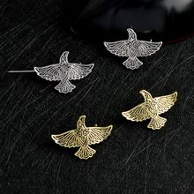 ไวกิ้ง Flying Raven Pin Silver Bronze นอร์ส Crow (China)