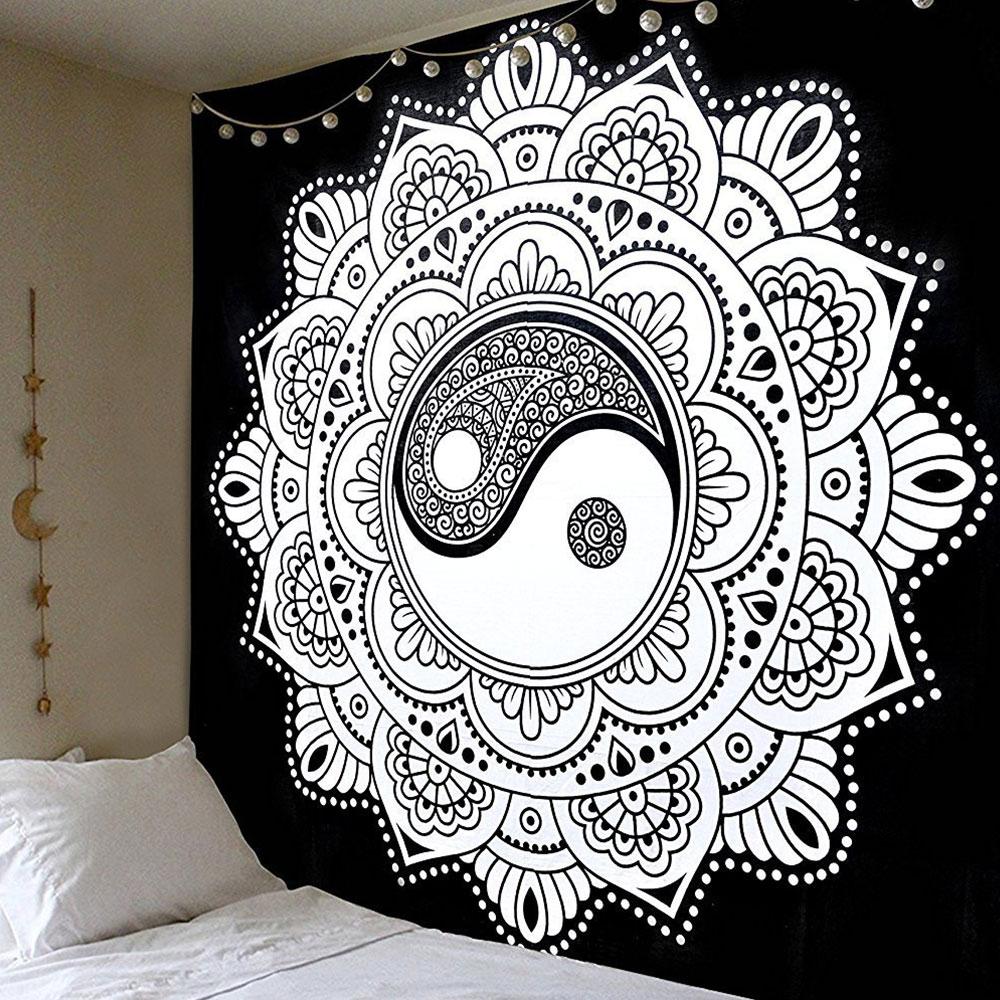 Полиэстер гобелены открытый ковры скатерть, диван бросает спинка кровати в современном стиле крышка спальный настенный солнцезащитный крем муслин пляжные коврики - Цвет: 3