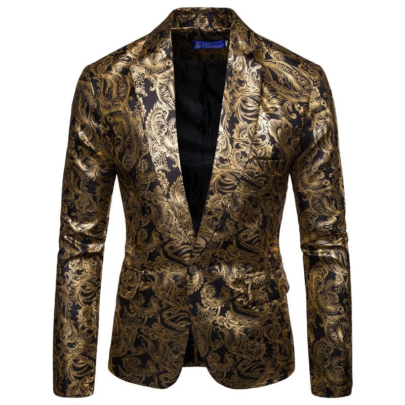 2019 Fashion Men's Brand Blazer Style British Casual Slim Suit Jacket Men's Suit Men's Formal Jacket Wedding Clothing M-3XL
