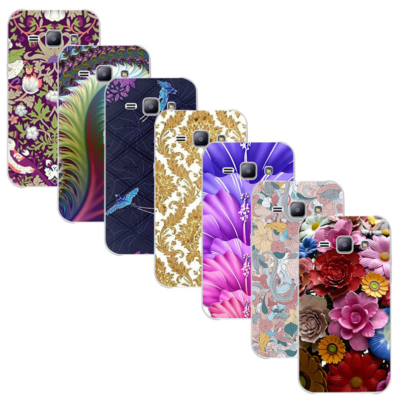 For Samsung Galaxy Star Advance G350E Galaxy Star 2 Plus Printed Case Luxury Hard Plastic Drawing Phone Shell Flower Back Cover