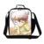 Detective Conan legal de impressão saco de escola dos meninos, Anime almoço térmica de com alças para crianças, Caixa de almoço para crianças