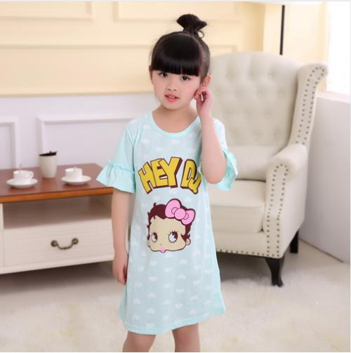New Listing 2018 Children Clothing Summer Dresses Girls Baby Cotton Girl Sling Bow Sleepwea Kids Party Princess Nightgown HK5