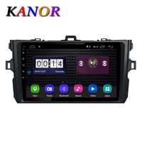 KANOR Android 8.1 Car Radio Multimedia Player For Toyota Corolla 2008 2009 2010 2011 2012 2013 Stereo GPS Navigation Stereo