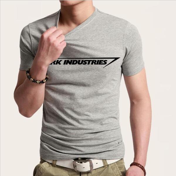 Stark Industries Tony Stark Iron Man T Shirts Casual Novelty Print T-shirts Short Sleeve Round Neck Brand Tshirts Top Tees