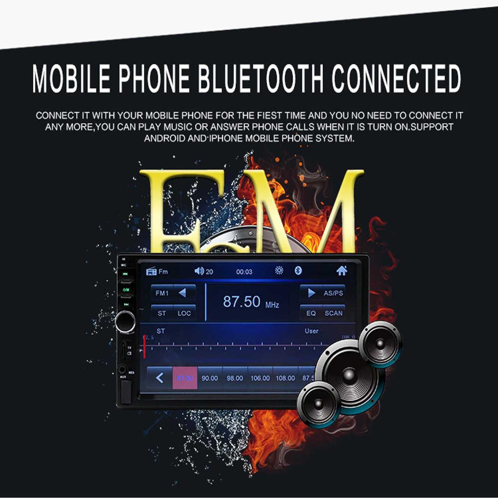 """2 喧騒車のマルチメディアプレーヤー Autoradio 2Din 7 """"ラジオオーディオステレオタッチスクリーンビデオ MP5 プレーヤー Bluetooth TF USB FM"""