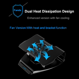 Image 3 - COOLCOLD Laptop Cooling Stand Single Fans Notebook Cooler Base Air Cooled 7 Angle Adjustable Holder for 15.6 17 Laptop Non slip
