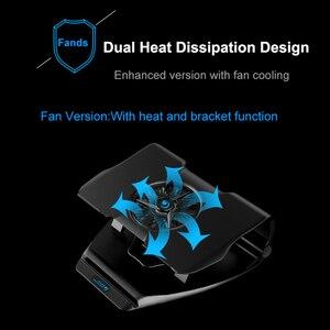 Image 3 - Coolcold portátil suporte de resfriamento único ventiladores notebook base refrigerador de ar de refrigeração 7 ângulo ajustável titular para 15.6 17 portátil antiderrapante