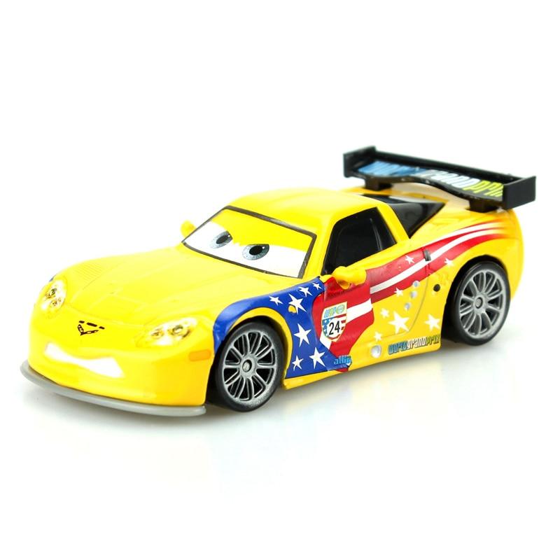 Disney Pixar Cars Cartoon Car American Racer Jeff Gorvet 1:55 Scale Diecast Metal Alloy Modle Car Cute Toys For Children Gifts