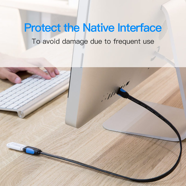 Vention Extension Cable USB 3.0 Cable Flat Male to Female Data Cable USB 3.0 Extender Cord for Computer USB Extension Cable