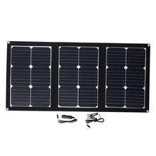 Folding Solar Pane Emergency Power Supply Solar Panel Durable Portable 60W 18V USB+DC Port Car Battery Chargiing