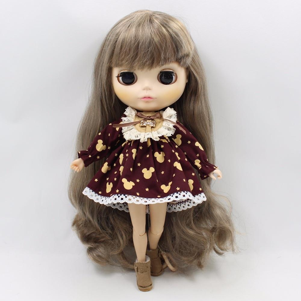 Neo Blythe Doll Vintage Lace Mickey Mouse Print Dress 3