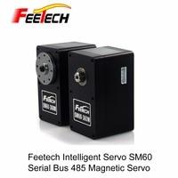 Robot Serial Bus Intelligent Servo, Feetech SM60 Servo, 60kg cm Torque, Magnetic Encoding, Data Feedback Function, Metal Gear