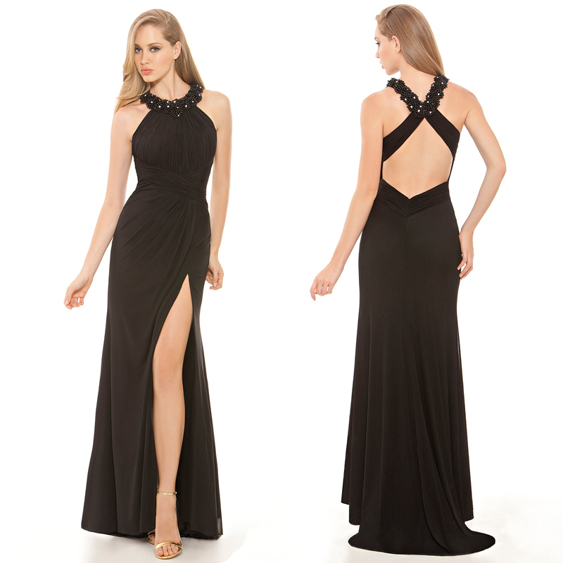 Online Get Cheap Black Halter Gown -Aliexpress.com | Alibaba Group