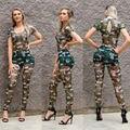 Мода Женщин Печати Бинты Bodycon Комбинезоны Комбинезон Комбинезоны Clubwear Партии XY9034