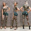 Moda Para Mujer de Impresión Del Vendaje de Bodycon Buzos Catsuit Playsuits Party Clubwear XY9034