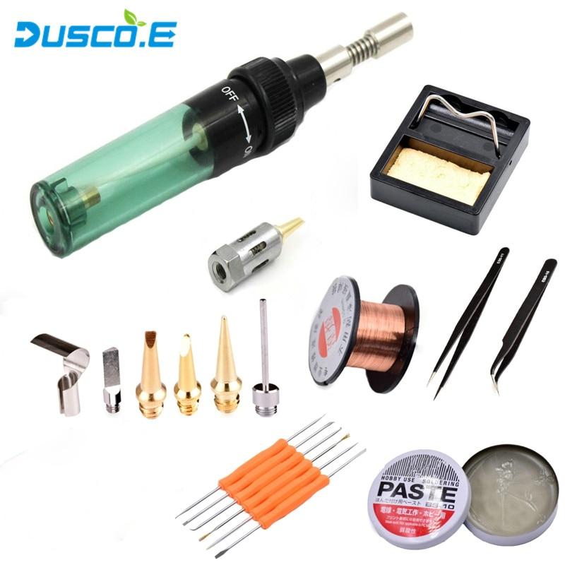 Dusco.E Gas Soldering Iron MT-100 Electric Portable Triad Universal kit HS-1115K