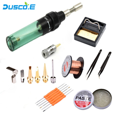 цена на Dusco.E Gas Soldering Iron MT-100 Electric Gas Portable Triad Gas Electric Soldering Iron Universal Soldering Iron kit HS-1115K