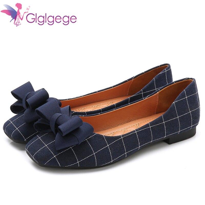 blue Chaussures Chanvre Glissement Plaid Femmes ga00249 Automne Coton Plates Printemps black Ballet Dames Femme Des Bout Sur Appartements Glglgege Ga00249 Carré XwvR8IxqI