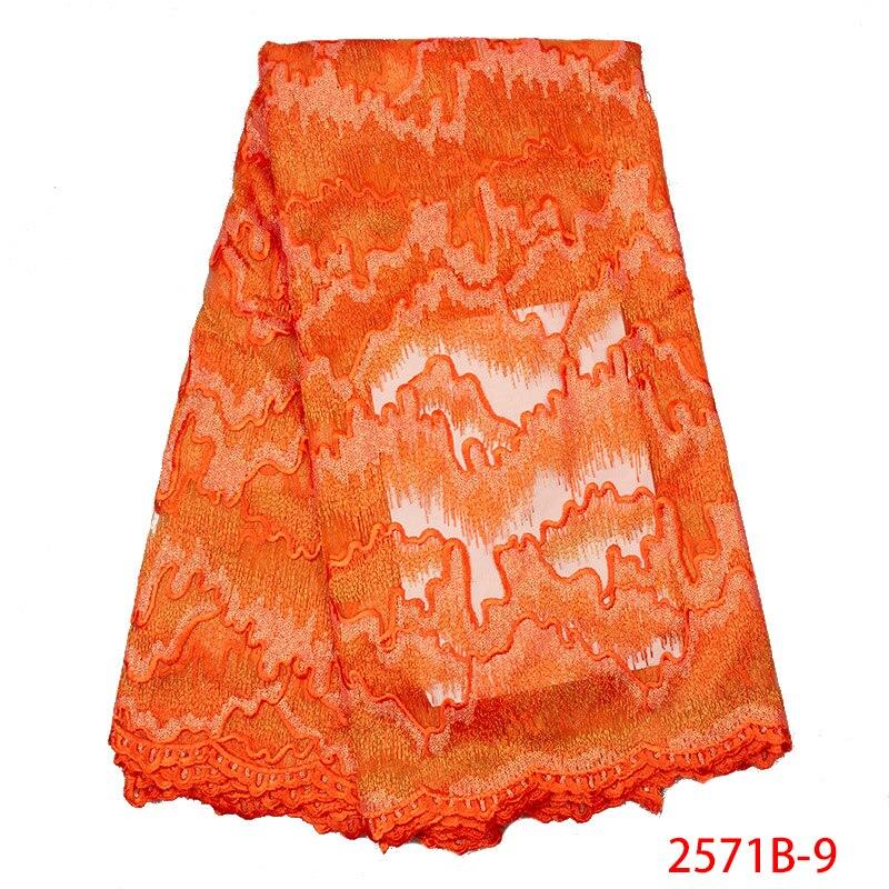 Di alta Qualità Burnt Orange Nigeriano di Tulle Del Merletto Del Tessuto 2019 Ultime Popolare Maglia Africano Tessuto Del Merletto Netto per il Vestito Da Sposa APW2571B-in Pizzo da Casa e giardino su  Gruppo 1
