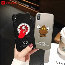 New Cartoon Case For iphone 6 6s 7 8 Plus Fashion personality trend Brand lovely soft X10 XR XS Max phone Cover Cases