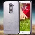 Para lg g2 tampa de alumínio moda slim metal duro plástico phone case para lg optimus g2 d802 d805 d801 d800 d803 ls980 com logotipo