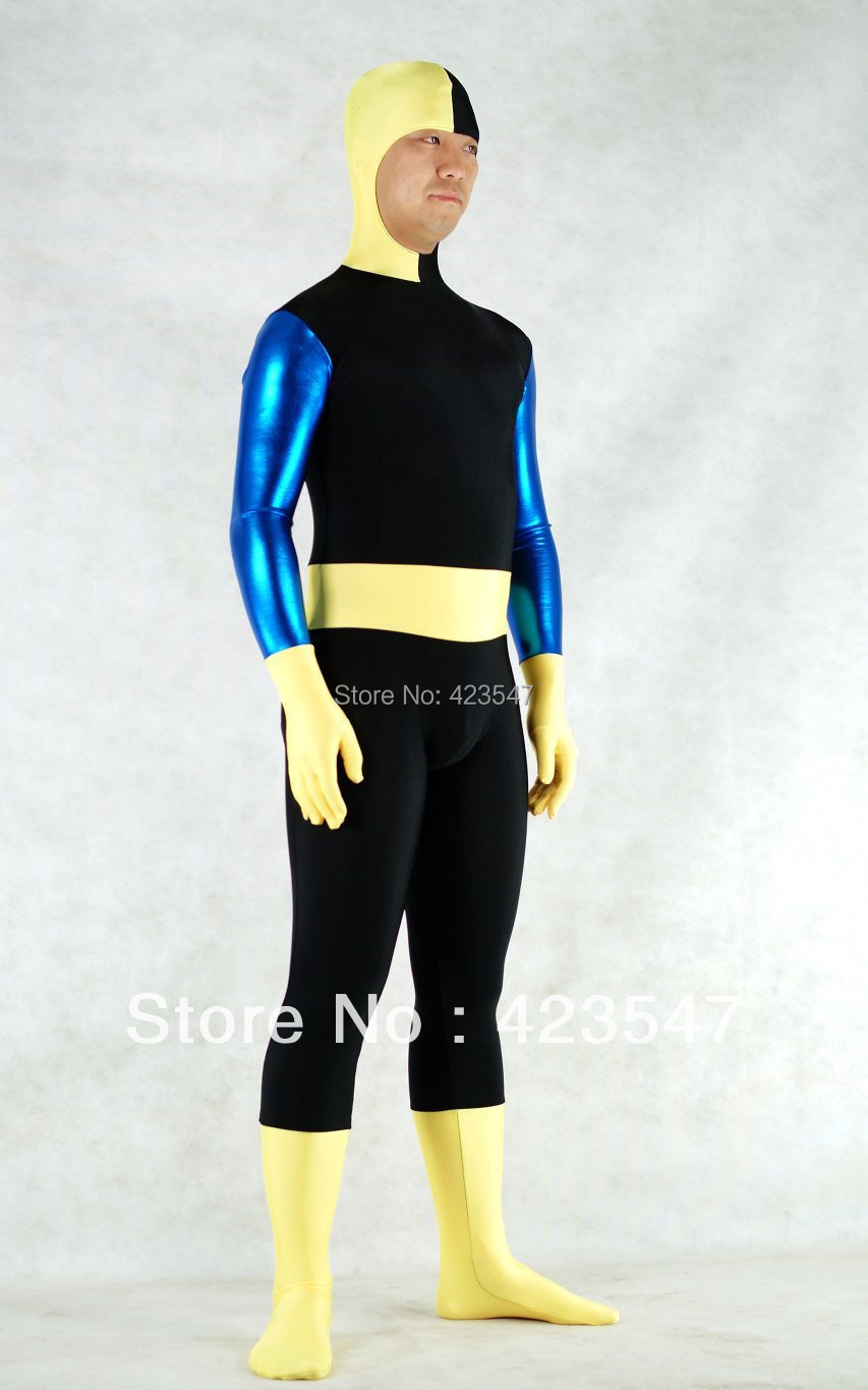 DC Comics Ravager Metallic & Spandex Superhero Costume Zentai Suits Halloween Party Costumes