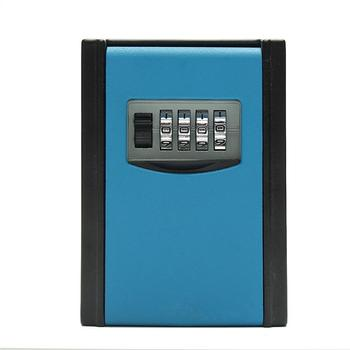 Portable Safe Box Wall Mounted 4 Password Keys Combination Lock Metal Alloy Storage Store Key Storage Organizer Boxes master lock key safe box wall mount combination password lock metal alloy garage factory outdoor keys storage box security safes