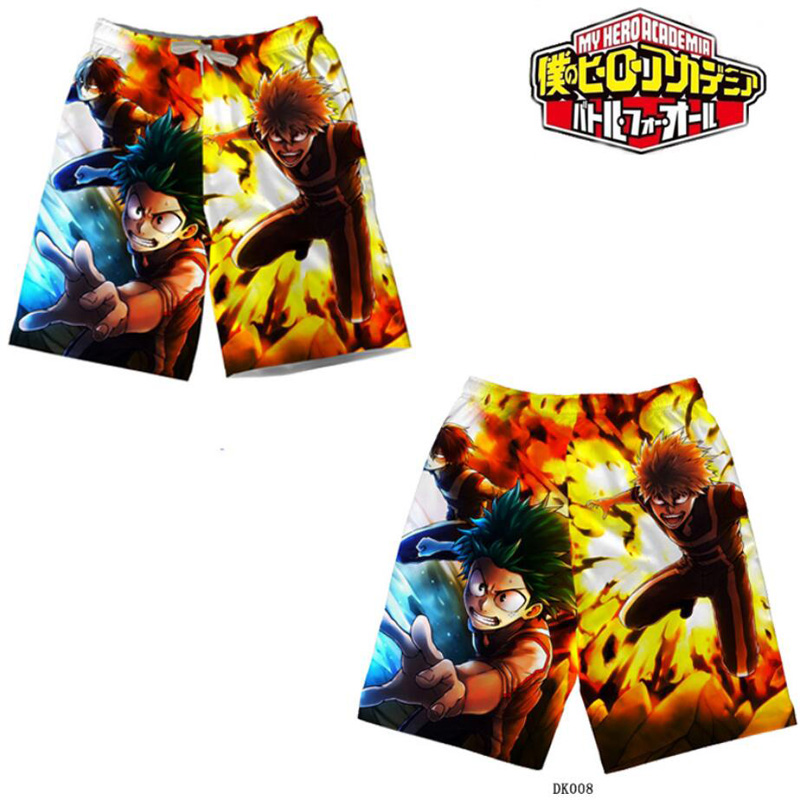 My Hero Academia Izuku Midoriya Katsuki Bakugou Beach Shorts Cosplay Costume Boku No Hero Academia Summer Short Pants Sports