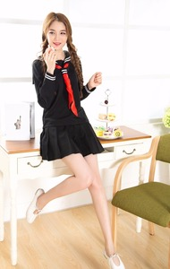 Image 5 - ญี่ปุ่น High School Girl Sailor Uniform ชุดคอสเพลย์เครื่องแต่งกายชุดยาว Anime Jigoku Shojo สาวนรก Enma Ai คอสเพลย์