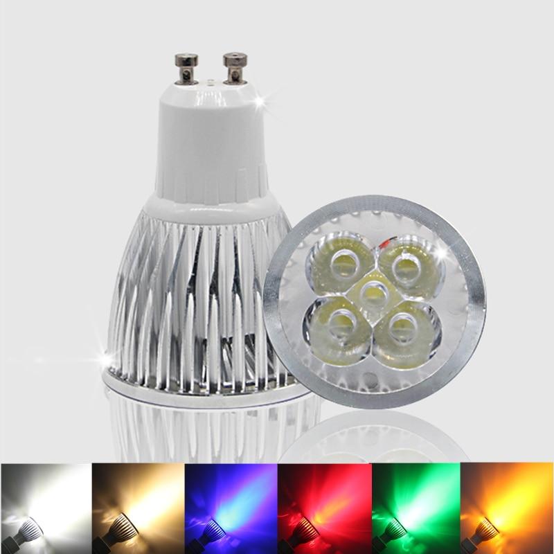 Lighting GU 10 LED Spotlight Dimmable GU10 LED Lamp 3W 4W 5W 110V 220V Red Green Blue Lampada LED Bulbs Light Spot Candle Luz