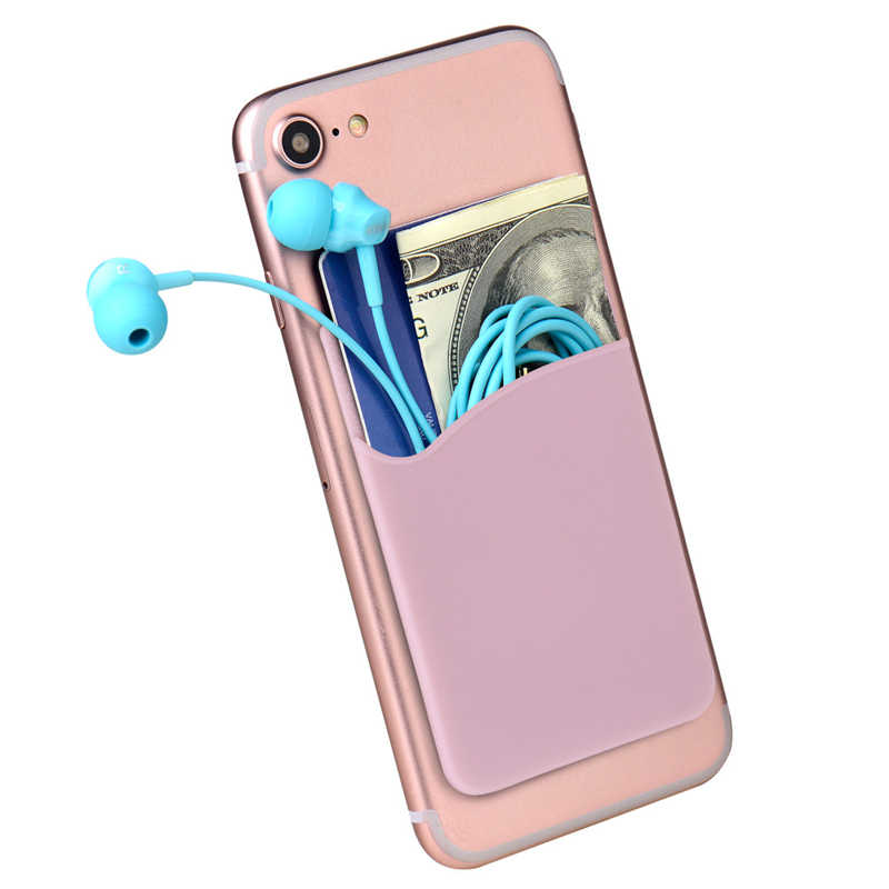 Kreatywny elastyczne komórkowy Lycra posiadacz karty portfel przypadku telefonu kobiety mężczyźni biznes posiadacz karty kredytowej ID kieszeni kij 3M klej