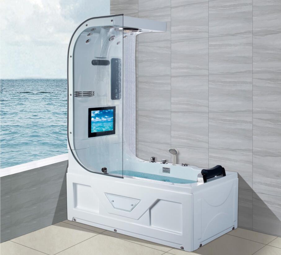 1600 luxo banheira de hidromassagem chuveiro superior tv surf & massagem banheira interior ns3220-0