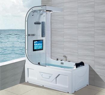 1600 luxo banheira de hidromassagem chuveiro superior tv surf & massagem banheira interior ns3220