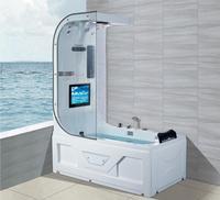 1600 luxury Whirlpool Bathtub Top Shower TV Suring & Massage Indoor Tub NS3220