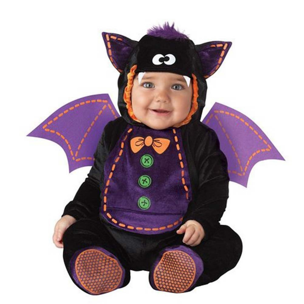 fashion bat scary baby cartoon costume boys christmas jumpsuit romper halloween kids clothing cosplay character gift - Cheap Creepy Halloween Costumes