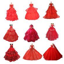 9f684f29d Rojo Elegante ropa de verano vestido para muñeca hecha a mano de la boda  Vestido de la princesa muñeca vestido de fiesta elegant.