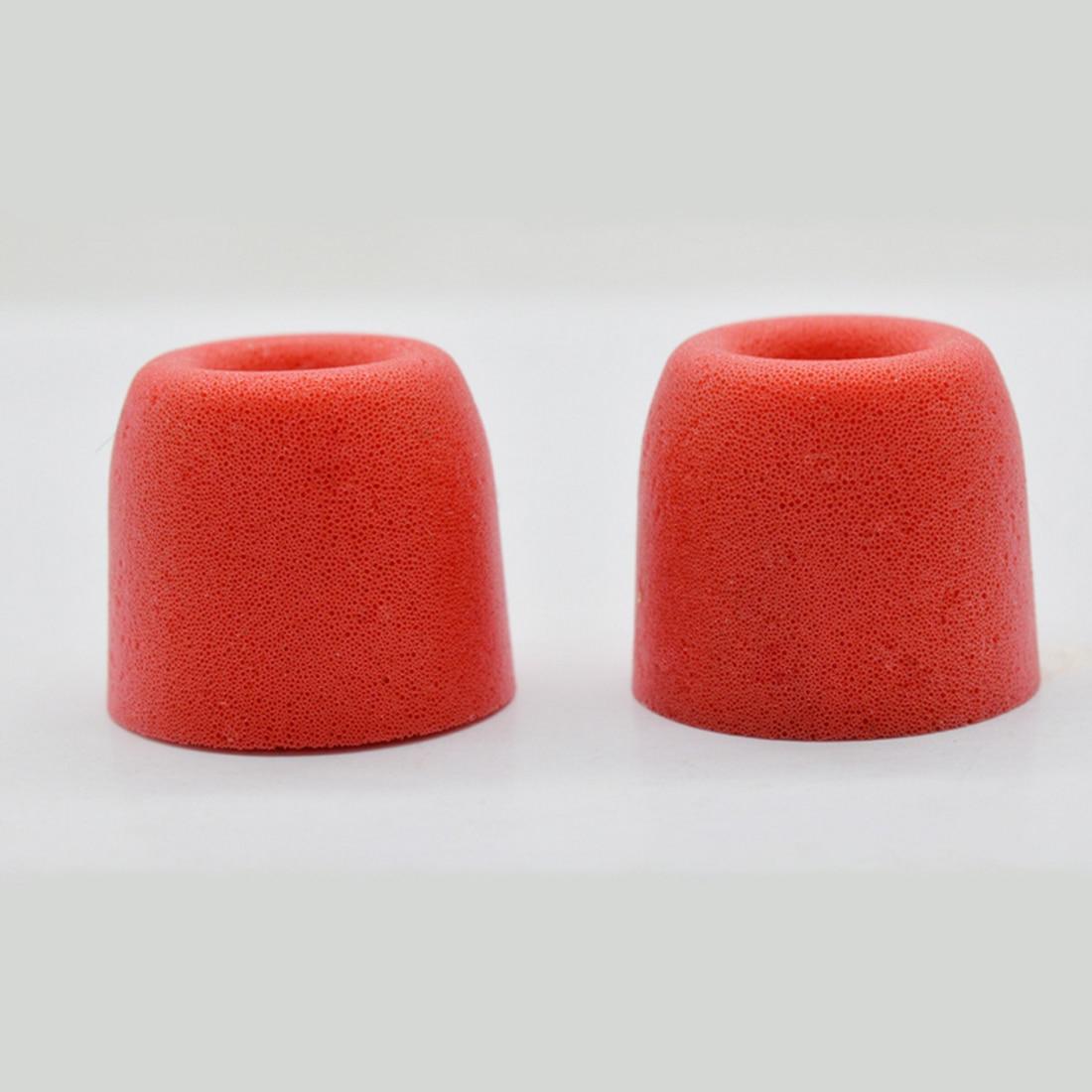 Marsnaska Red 1 pair ForT100 T200 T400 Earphone tips Memory Foam Sponge ear pads for headphones 4.9 mm Caliber