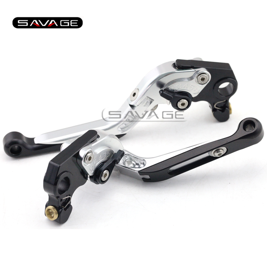 For Gilera GP 800 GP800 2007 2008 2009 Silver Motorcycle Accessories Adjustable Folding Extendable Brake Clutch Levers for gilera gp 800 2007 2009 motorcycle accessories cnc aluminum folding extendable brake clutch levers black