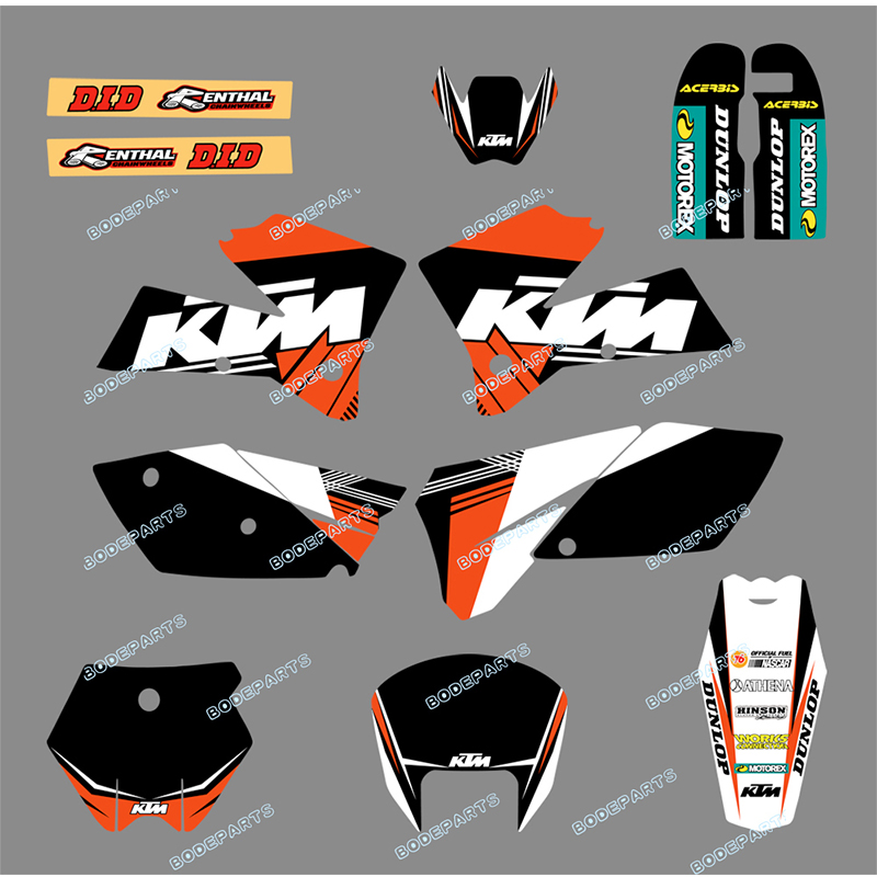 Motorcycle Bike SX 125 250 380 400 520 Sticker Decal Graphics FOR KTM Motorcycle SX 125