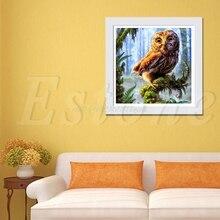 5D DIY Cross Stitch Night Owl Diamond Embroidery Painting Home Decoration Craft#T025#