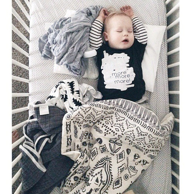 100 * 68 cm Black White Printing Baby Blanket High Quality Cotton Blanket For Eewborns Dream Baby Blanket Bedding1pcs
