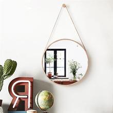 20CM Round European Creative Makeup Mirror Hanging Mirror Modern Framed Stylish Round Mirror for Bedroom Cruise Bathroom (Gold)