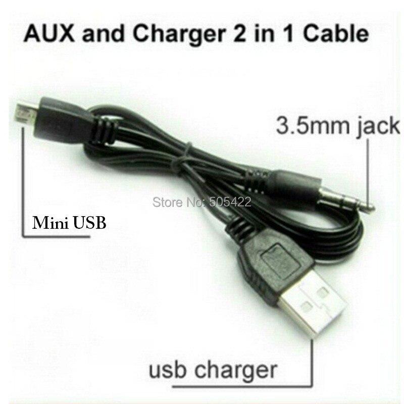 2 1 Usb Cable Jack 3 5mm Aux Cable Usb Male Mini Usb