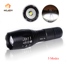 T6 Flashlight Aluminum Waterproof LED Flashlight Torch Tactical light AAA 18650 Rechargeable Battery Outing Camping Flashlight