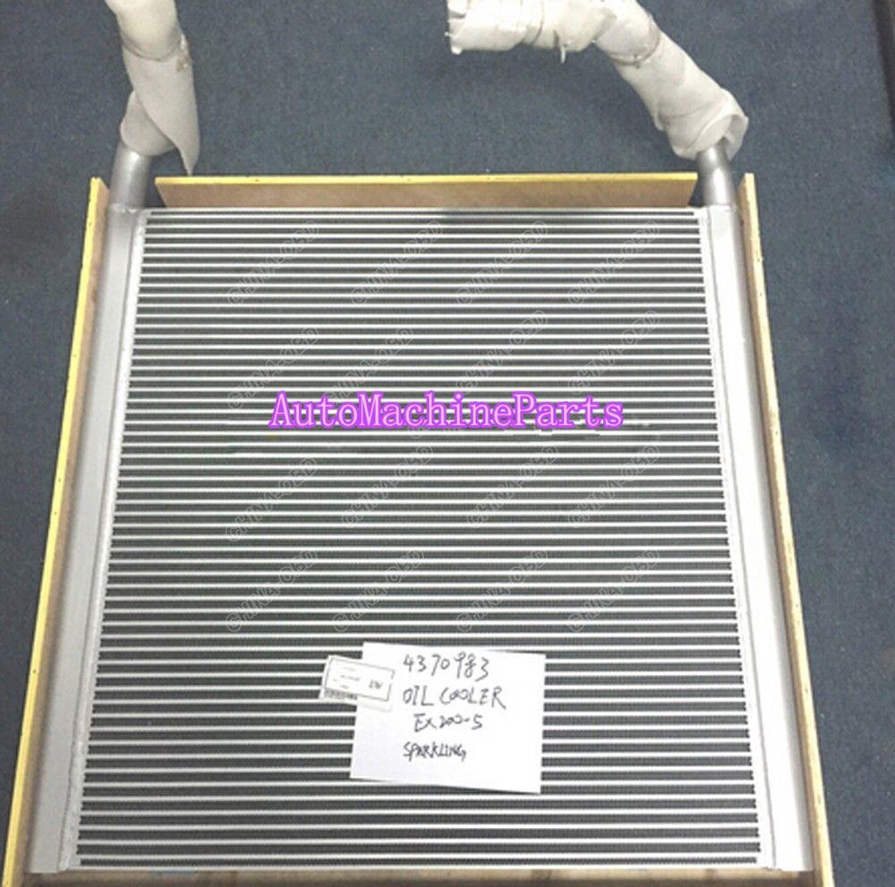 Aluminium Hydraulic Oil Cooler 4370983 for Hitachi EX200-5 Excavator 4378370 pc400 5 pc400lc 5 pc300lc 5 pc300 5 excavator hydraulic pump solenoid valve 708 23 18272 for komatsu