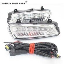 2 шт. x светодиодный DRL для VW Polo 6R 2010 2011 2012 2013 автомобильный-Стайлинг передний светодиодный DRL Дневной ходовой светильник противотуманный светильник
