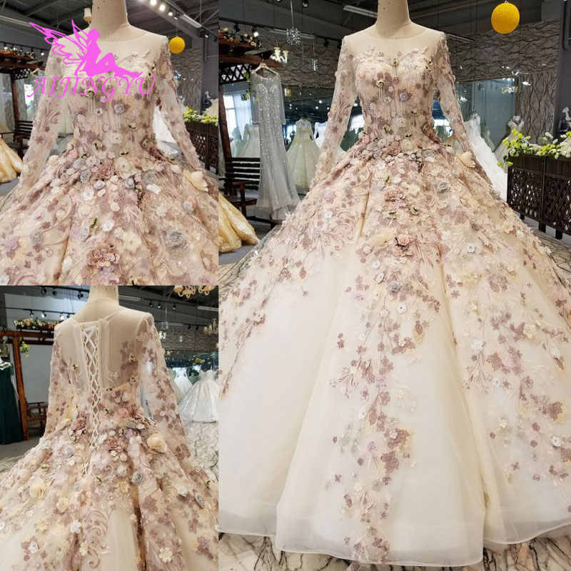 cc74f529b31 AIJINGYU 2018 Wedding Dresses Indian Gowns Transparent Ball Plus Size  Bridals Sale Original Sexy Stores Muslim