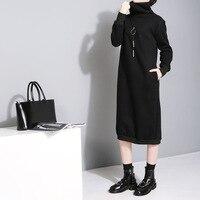Winter Spring Ladies Long Sleeve Sweatshirt Dresses Warm Thicken Hoodie Dress Korean Fashion Pullover Women Casual