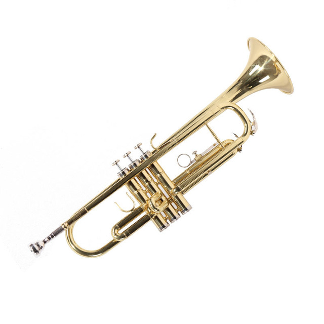 Free shipping professional trumpet instrument, golden B flat level of playing trumpet, for beginners