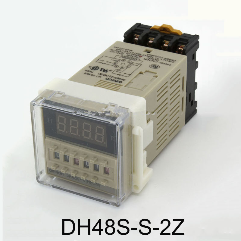 DH48S-S-2Z Digital time relay 8 feet 220V/24V12V two sets of delay contact digital display counter with socket time relay h5cn xbn z